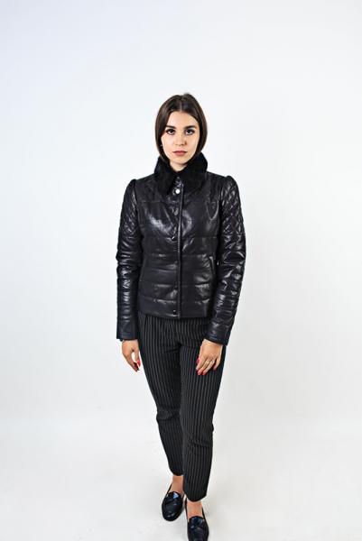 Куртка с воротником из норки