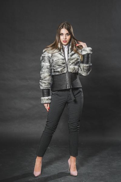 Кожаная куртка из кролика