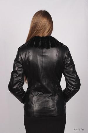 Утепленная куртка с норкой
